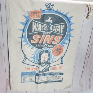 Wash Away Your Sins Laundry Bag